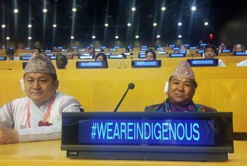 Participants in the panel discussion for the  International Day of the World's Indigenous Peoples, UN, New York.