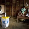 A voter casts his ballot for the presidential and legislative elections in the Democratic Republic of the Congo, November 2011. President Joseph Kabila has announced that he does not intend to run in elections scheduled for December 2018.