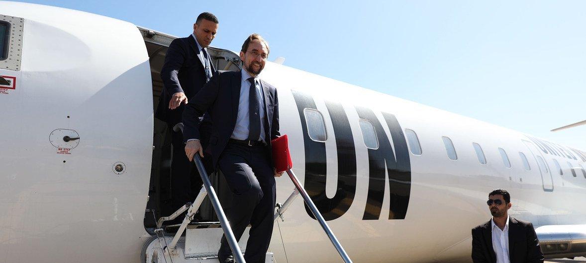Зейд Раад аль-Хусейн прибыл в Ливию с официальным визитом, октябрь 2017 г.