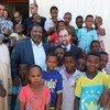 Kamishna Mkuu wa Haki za Binadamu wa Umoja wa Mataifa, Zeid Ra'ad Al Hussein wakati wa ziara yake huko Tripoli, Libya tarehe 10 Oktoba 2017