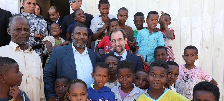 Zeid durante una misión oficial en Trípoli, Libia, en Octubre de 2017.