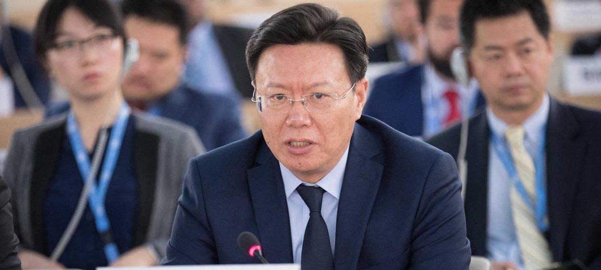 中国常驻联合国日内瓦办事处代表俞建华资料图片