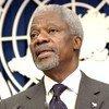 Kofi Annan durante una conferencia de prensa en 2003.