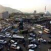 Un rond-point à Kaboul, la capitale de l'Afghanistan. Pour l'envoyé des Nations Unies en Afghanistan, le pays a fait des progrès pour trouver une solution négociée au conflit qui le ravage depuis des années