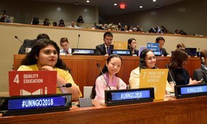 """Participants of the 67th United Nations DPI/NGO Conference, held under the theme """"We the Peoples…Together Finding Global Solutions for Global Problems""""."""