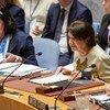 Subsecretária-geral para Assuntos Políticos, Rosemary DiCarlo, discursou na reunião sobre o Oriente Médio.