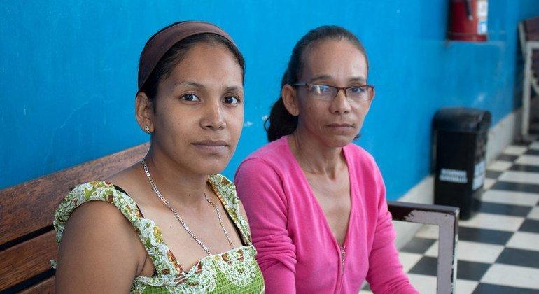 Lucy Montañez llegó a Tumbes, Perú, embarazada de ocho meses, tras más de un mes de viaje desde Venezuela