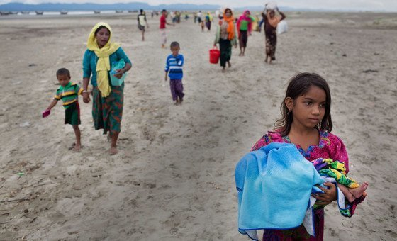 Over half of the Rohingya refugees in Cox's Bazar, Bangladesh, are women and girls who are the focus of UNFPA's humanitarian response.