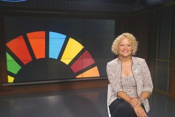 Salt Lake City Mayor Jackie Biskupski attends 2018 DPI NGO Conference at UN Headquarters in New York, 23 August 2018.