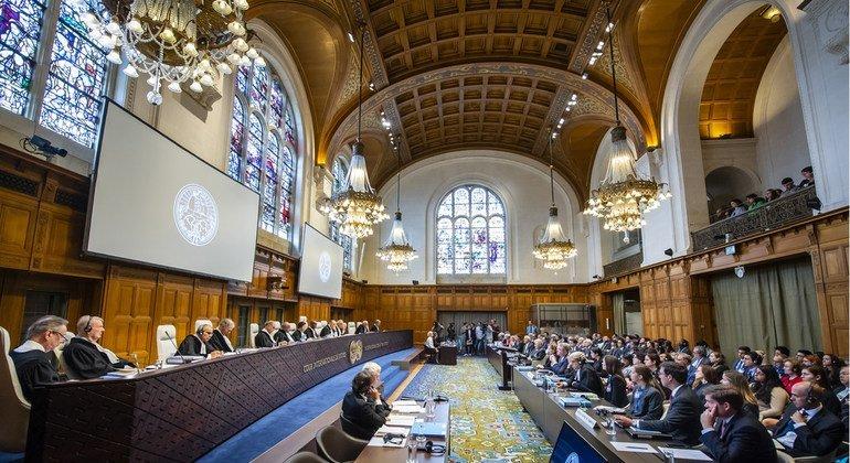 Vista de la Corte Internacional de Justicia durante las audiencias en la denuncia de Irán contra Estados Unidos.