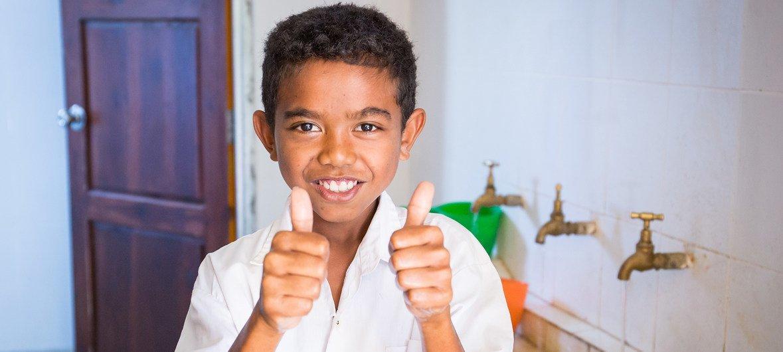 Instalações permanentes de higiene devem apoiar alunos e professores de Timor-Leste.
