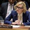 Cate Blanchett, ambassadrice de bonne volonté du HCR, s'exprime devant le Conseil de sécurité sur la situation au Myanmar.