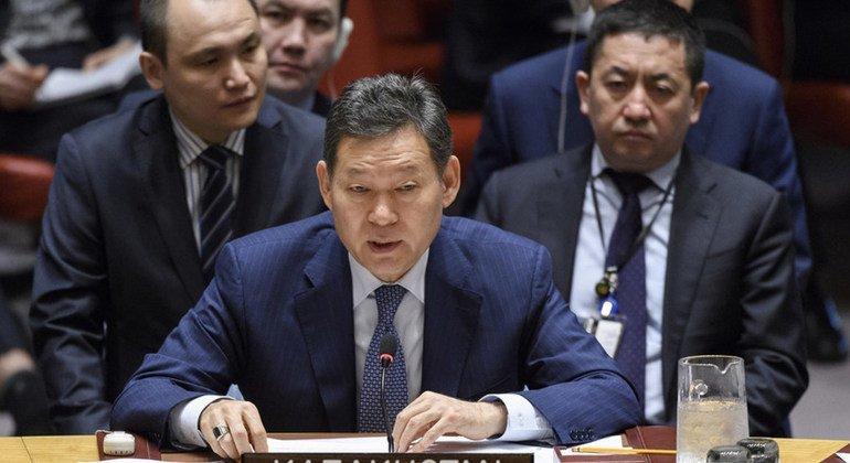 Постпред Казахстана Кайрат Умаров на заседании Совета Безопасности ООН