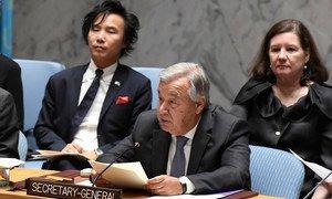"""Guterres apelou ao fim da violência """"em todos os lugares"""", nomeadamente em """"áreas densamente povoadas."""""""