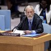 José Viegas Filho, Special Representative of the Secretary-General and Head of the UN Integrated Peacebuilding Office in Guinea-Bissau, briefs the Security Council on the situation in the country.