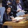 Michèle Coninsx, cheffe de la Direction exécutive du Comité contre le terrorisme (CTED) devant le Conseil de sécurité (photo d'archives).