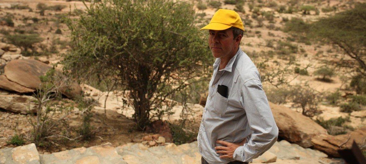 Francis Mead, en mission en Somalie en 2013.