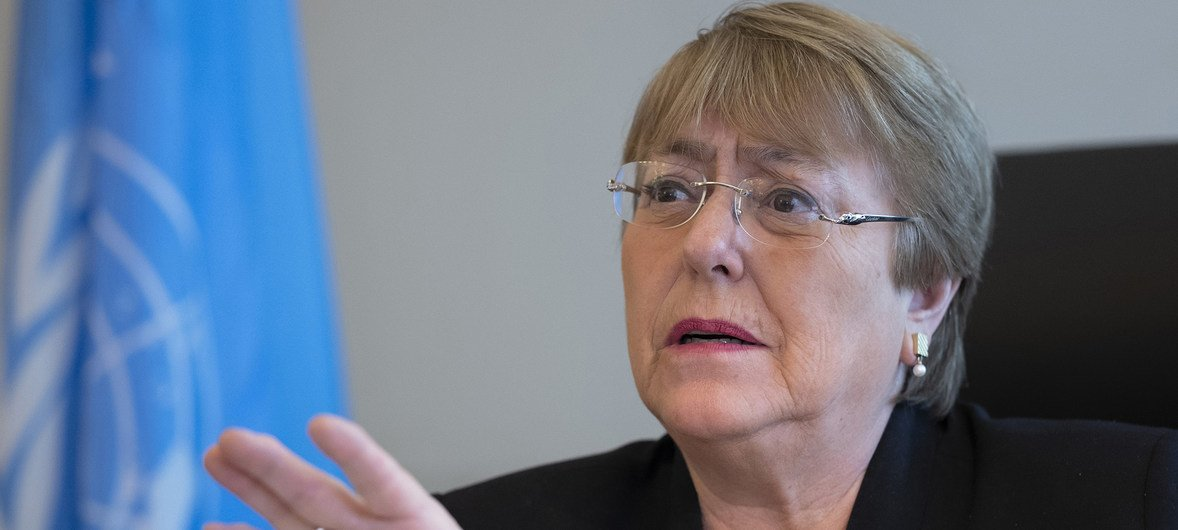Michelle Bachelet, United Nations High Commissioner for Human Rights.