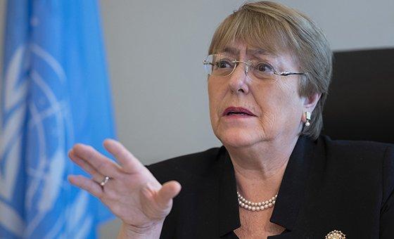 聯合國人權高級專員米歇爾?巴切萊特。