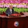 الأمين العام أنطونيو غوتيريش يتحدث أمام قمة التعاون بين الصين والدول الأفريقية، في بكين 3 سبتمبر أيلول 2018.