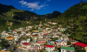 Six months after the 2017 hurricane season which devastated many islands in the Caribbean  communities have been rebuilt (file February 2018).