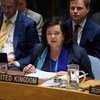 Ambassador Karen Pierce of the United Kingdom addresses the Security Council.