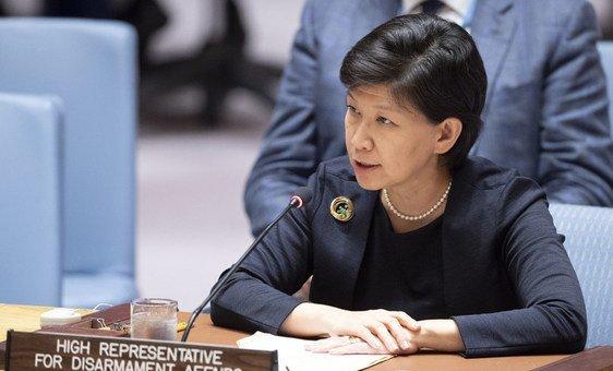 Исуми Накамицу, заместитель Генсека ООН и Высокий представитель по вопросам разоружения выступила на заседании Совбеза.