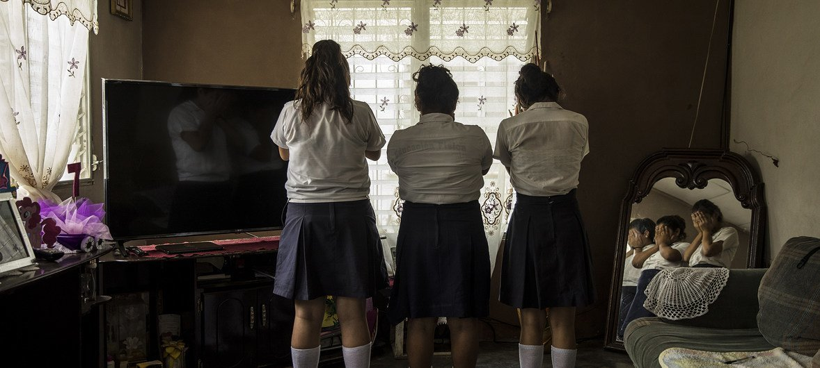 Three girls in Progreso, Yoro, Honduras, ages 13 to 14, who are friends and victims of harassment at their school, for the purpose of sex trafficking. The person behind it is a 15 year-old student that works with a network that co-opts young girls.