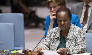 Bintou Keita, Assistant Secretary-General for Peacekeeping Operations, briefs the Security Council on Haiti, on 6 September.