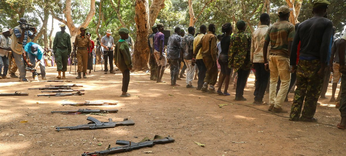 Former child soldiers are released in Yambio, South Sudan.