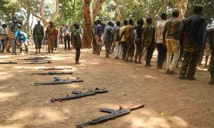 Former child soldiers are released in Yambio in South Sudan in 2018.