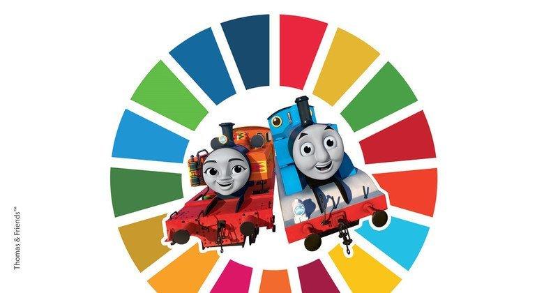 La ONU ha lanzado una colaboración con Thomas y sus Amigos para promover los Objetivos de Desarrollo Sostenible.
