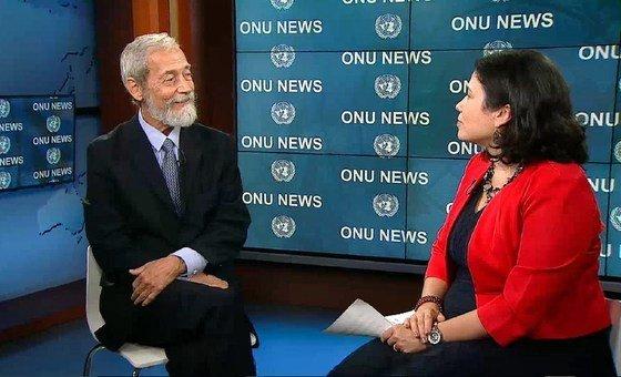 Representante especial do secretário-geral para a Guiné-Bissau, José Viegas Filho, e Monica Grayley, da ONU News.