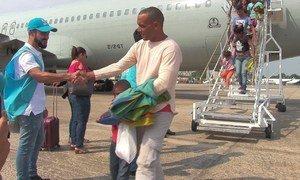 Venezuelanos chegando em Manaus, no Brasil
