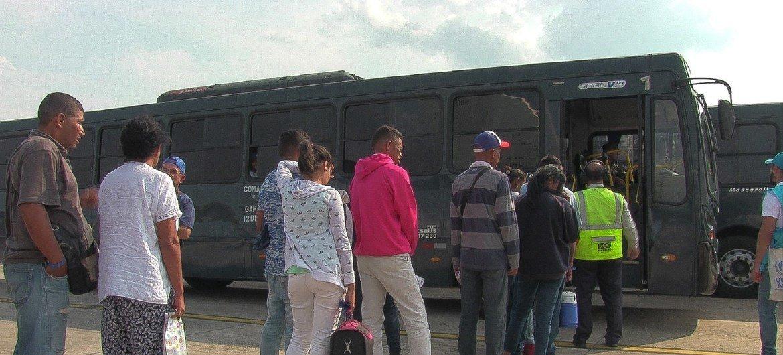Wakimbizi wa Venezuela wakiwasili Manaus, Brazil