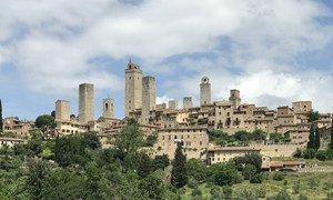 La ville de San Gimignano en Italie est inscrite au patrimoine mondial de l'UNESCO.