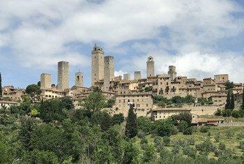 联合国教科文组织世界遗产、意大利古城圣吉米尼亚诺。