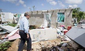 Генеральный секретарь на острове Барбуда, пострадавшем сразу от нескольких ураганов. Рост интенсивности и продолжительности экстремальных погодных явлений - одно из последствий изменения климата.