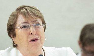 La Haut-Commissaire des Nations Unies aux droits de l'homme, Michelle Bachelet.