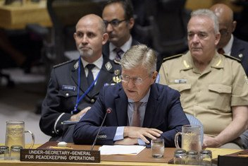 Jean-Pierre Lacroix, Under-Secretary-General for Peacekeeping Operations, briefing the Security Council on 12 September 2018.