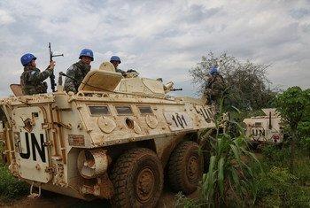 حفظة سلام في بعثة الأمم المتحدة في جنوب السودان، في العاصمة جوبا.