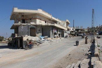 Idlib, Siria fotografiado en septiembre de 2018