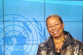 UN Ombudsman Shireen Dodson at UNTV in New York.