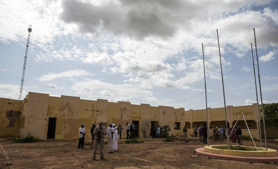 2018年9月2日,一个联合国代表团访问位于马里中部莫普提(Mopti)地区的萨赫勒五国集团联合部队总部。这座总部在2018年6月29日遭遇致命恐怖主义袭击,受到严重破坏。
