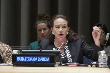 María Fernanda Espinosa Garcés, rais wa Baraza Kuu la Umoja wa Mataifa kikao cha 73