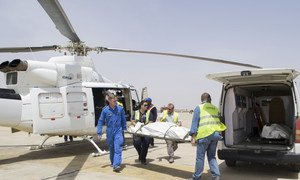 On 1 March 2018, three aid workers were killed in Rann, north-east Nigeria, by a non-state armed group. Three others were abducted. Maiduguri airport, Borno State, Nigeria, 2 March 2018.