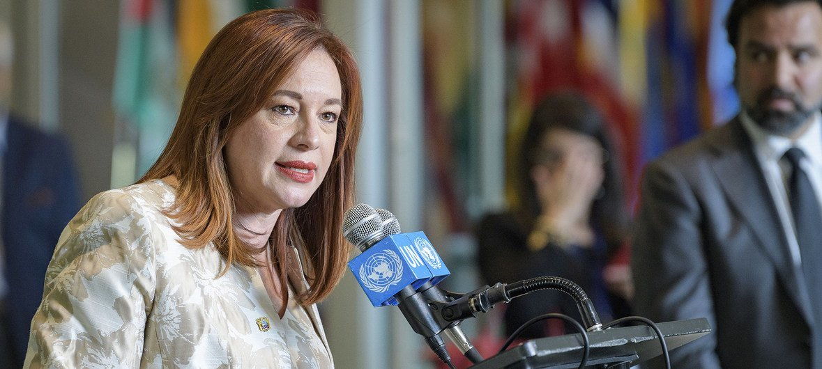 Image result for U.N. General Assembly Maria Fernanda Espinosa