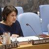 Rosemary DiCarlo, secretaria general adjunta de Asuntos Políticos y Consolidación de la Paz, se dirige al Consejo de Seguridad.