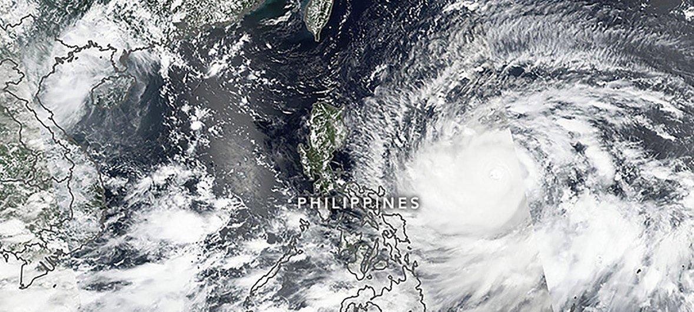 El tifón Mangkhut visto desde el satélite Suomi NPP el 13 de septiembre de 2018