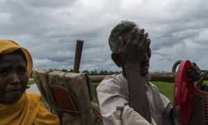 2017年9月,因暴力而逃离缅甸的罗兴亚难民。